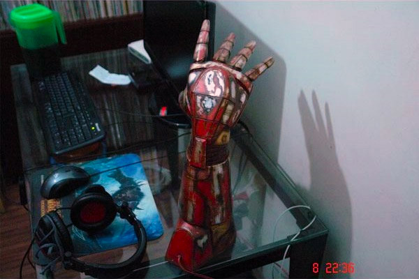 Iron Man S Hand Repulsor Turned Into A Battle Damaged Lamp