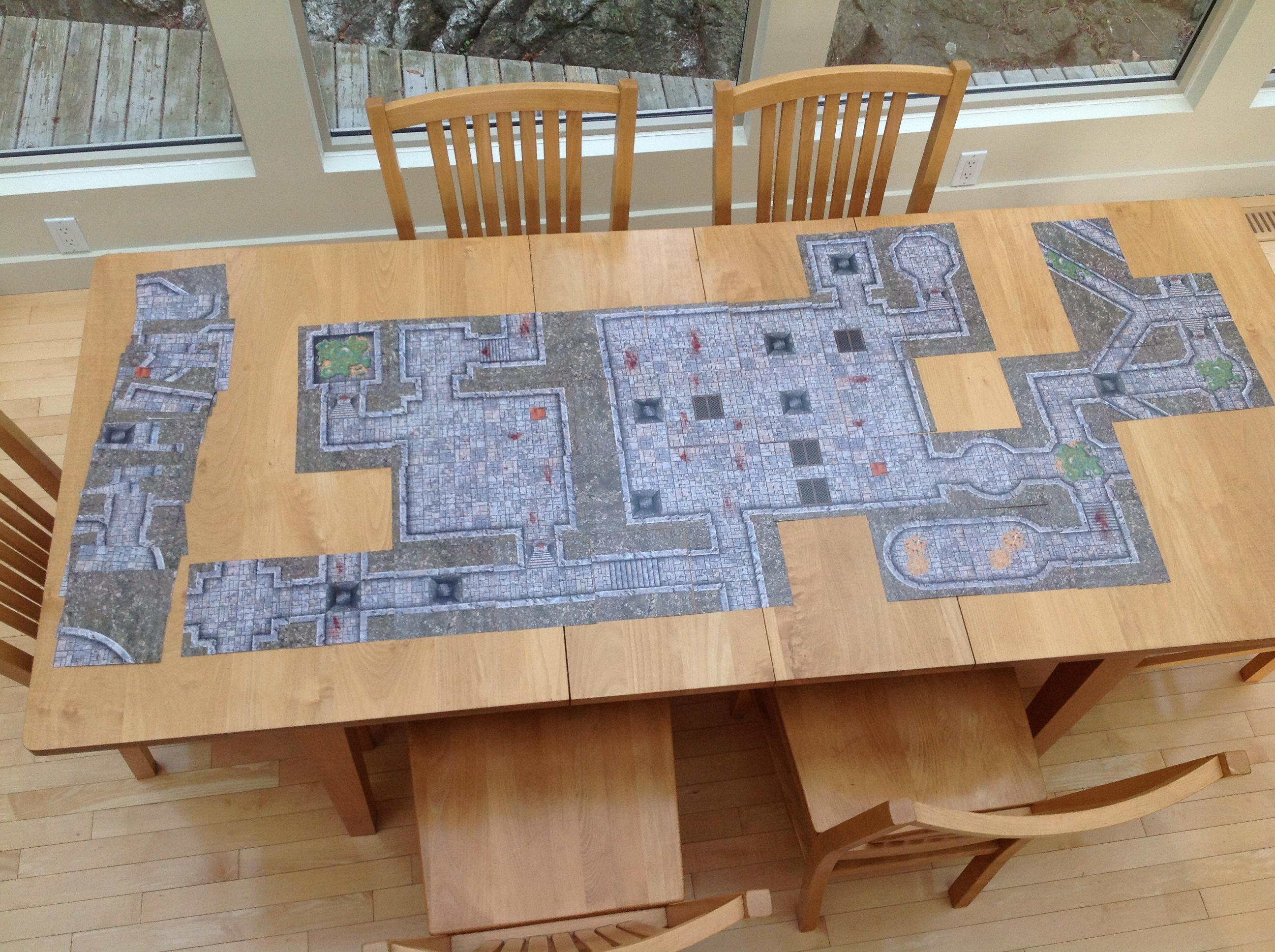 It is a picture of Geeky Dungeons and Dragons Tiles Printable