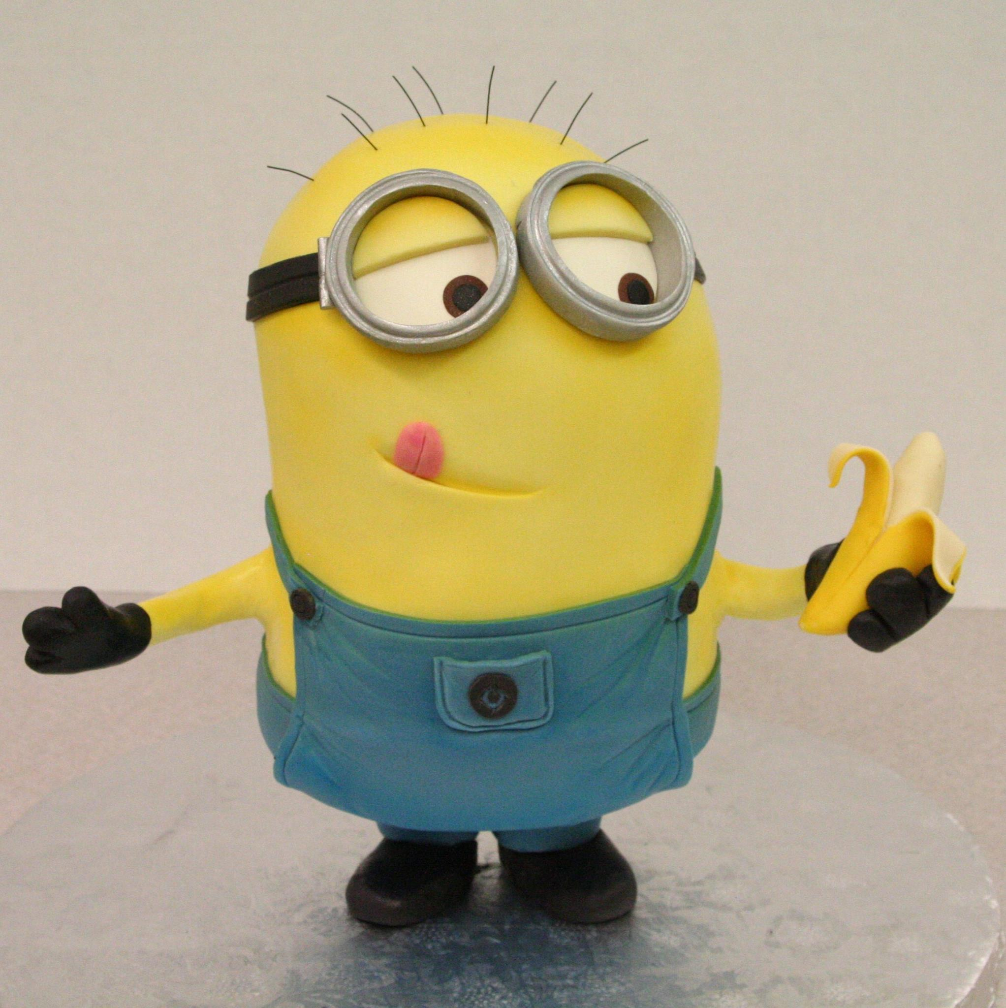 Minions Cake http://www.geeknative.com/39286/this-despicable-minion-is-a-banana-cake/