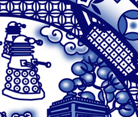 TARDIS designer wallpaper, decal, frabic and gift wrap