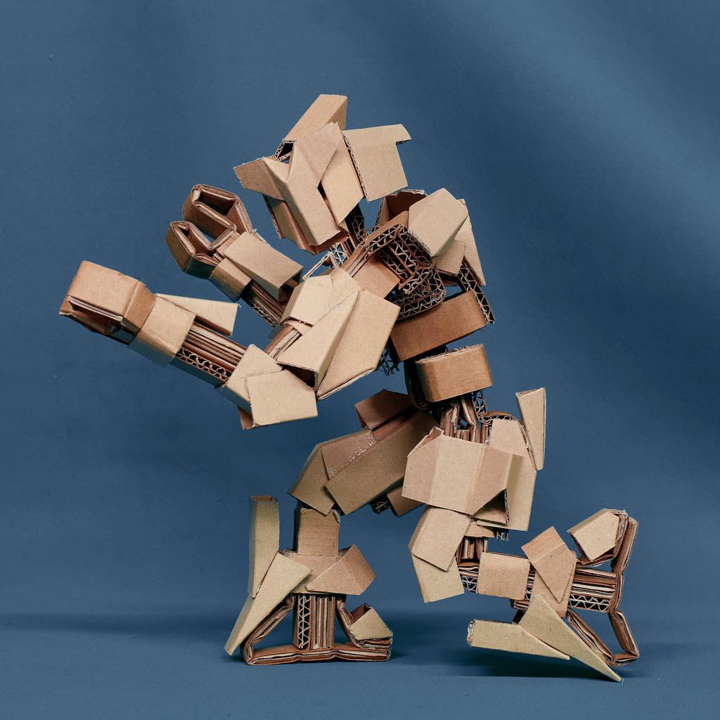 papercraft cardboard robots. Black Bedroom Furniture Sets. Home Design Ideas