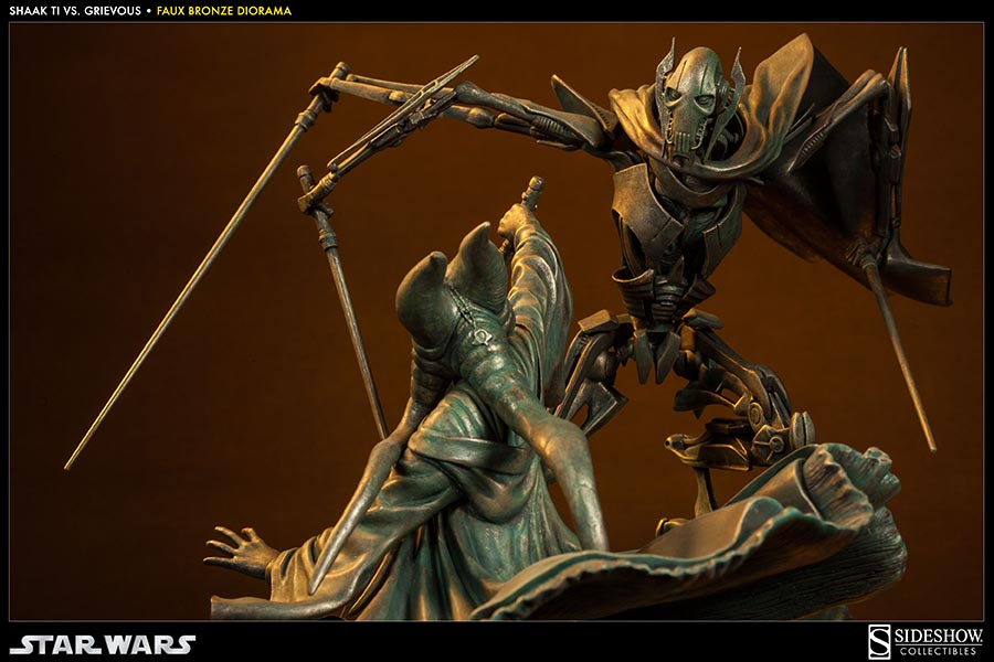 Shows the clash between Shaak Ti and General Grievous Sideshow