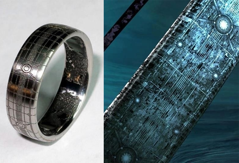 Made with alien love custom Halo wedding ring