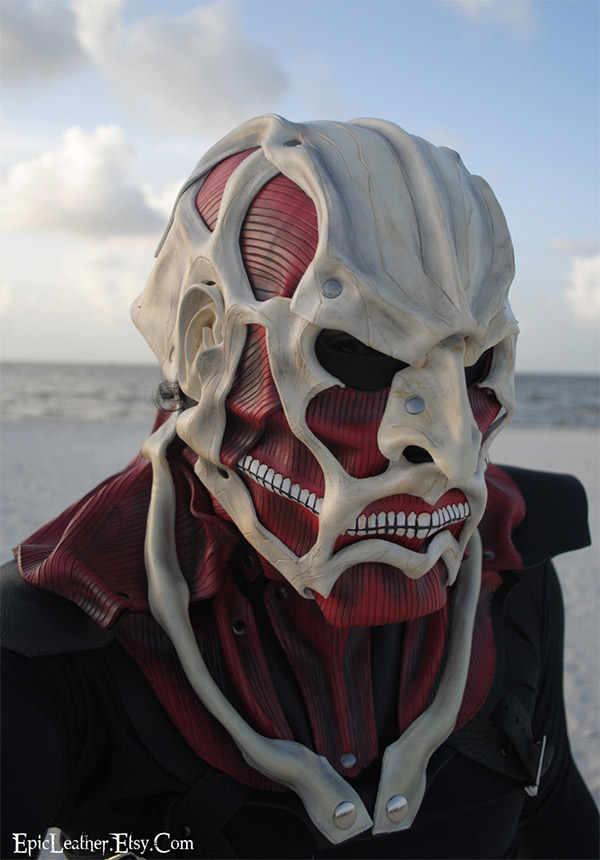 Attack on Titan: Colossal Titan leather mask