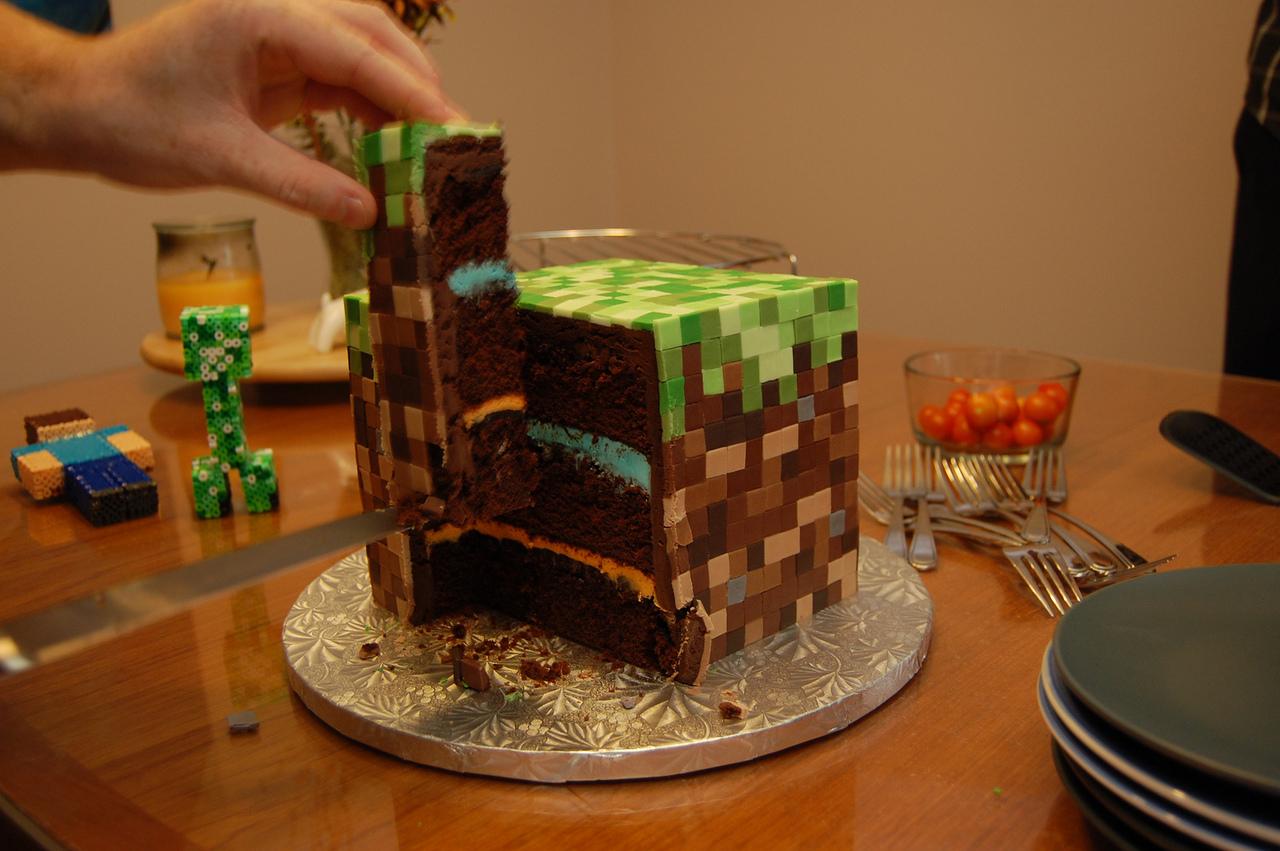 торт майнкрафт своими руками правильно