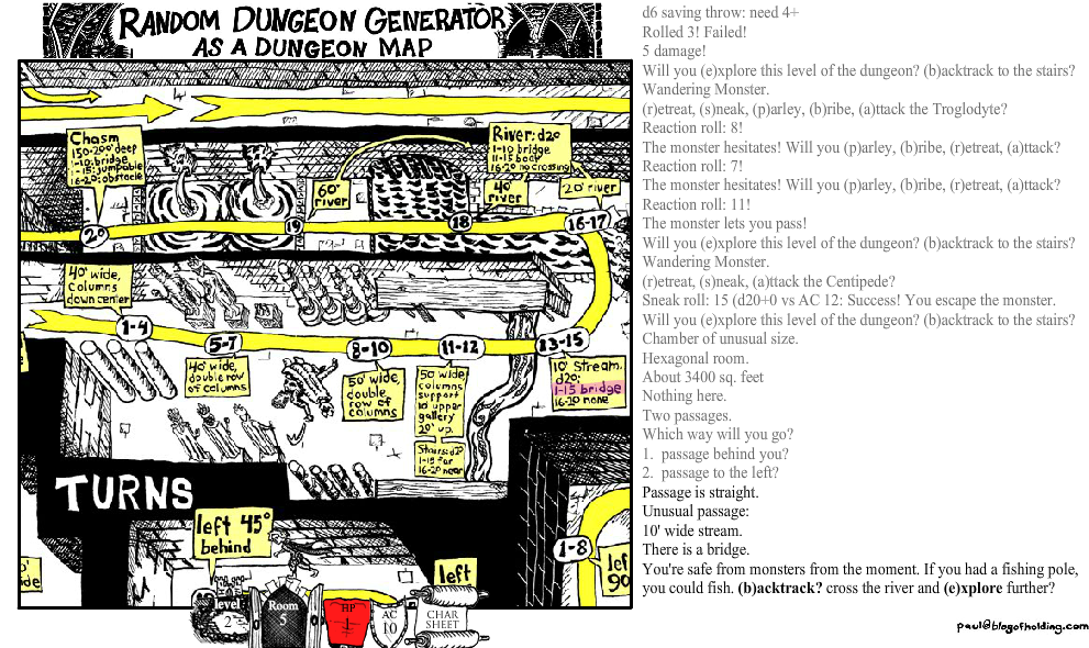randon dungeon game