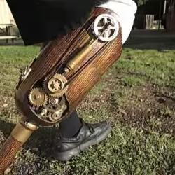 steampunk prosthesis