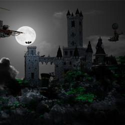steampunk vampire castle in lego 1