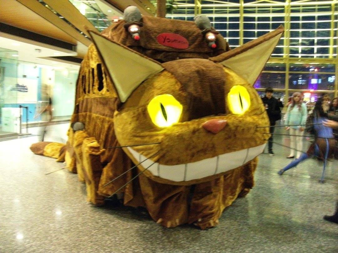 An actual cat bus cosplay