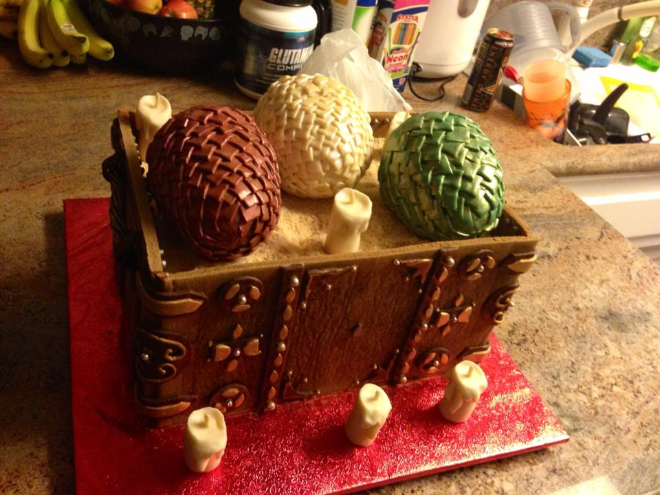 Game of Thrones' dragon eggs cake